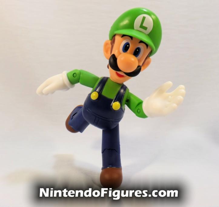 "Luigi World of Nintendo 4"" Figure Running Open Hands Super Mario Jakks Pacific"