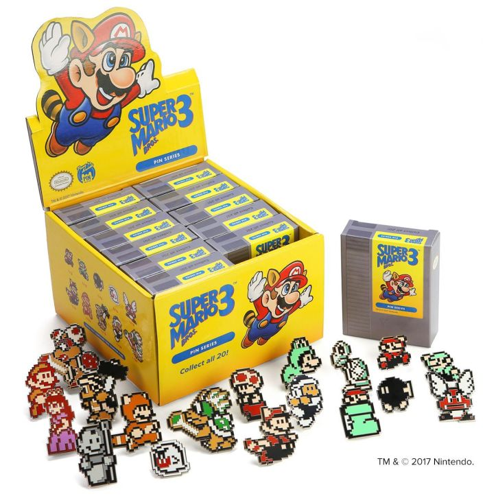 Super Mario Bros. 3 Pins Blind Box Packaging 2