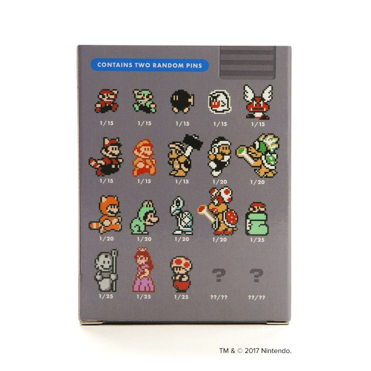 Super Mario Bros. 3 Pins Blind Box Rarity Penny Arcade