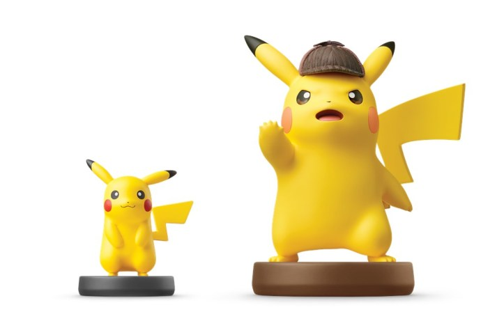 Detective Pikachu Super Smash Brothers Nintendo Amiibo Size Comparison