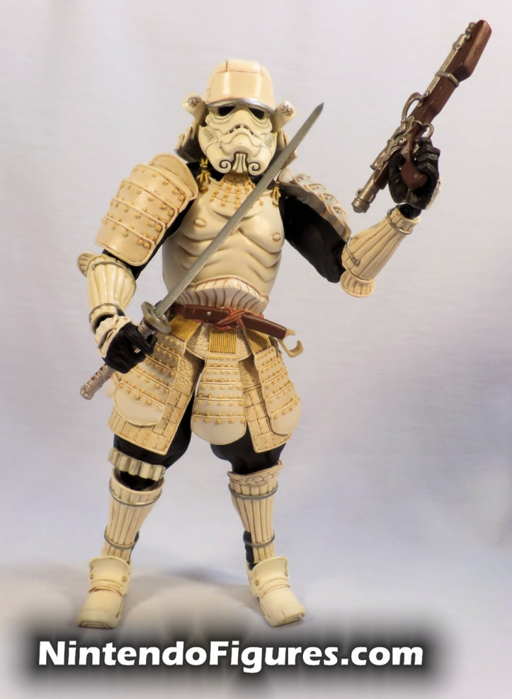 Ashigaru Stormtrooper Bandai Star Wars Movie Realization Tamashii Nations with Sword and Blaster