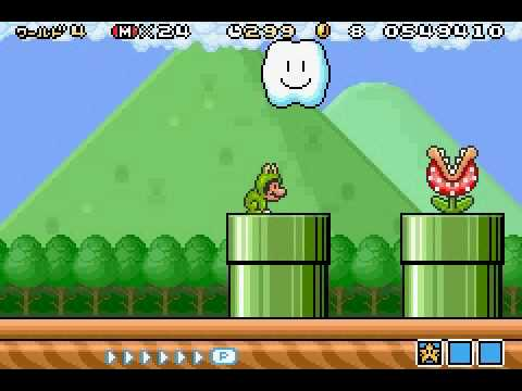 Super Mario Brothers 3 Frog Suit Mario NES Screenshot