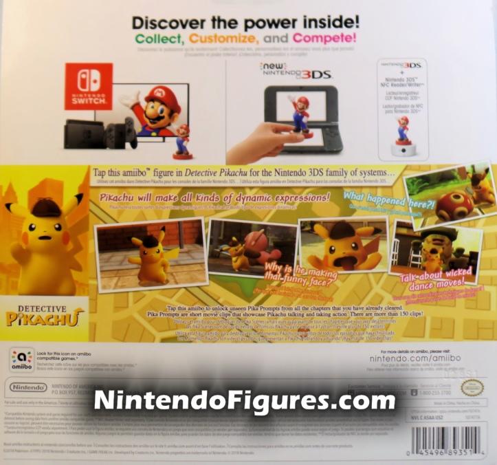 Detective Pikachu Amiibo Box Back Nintendo Pokemon