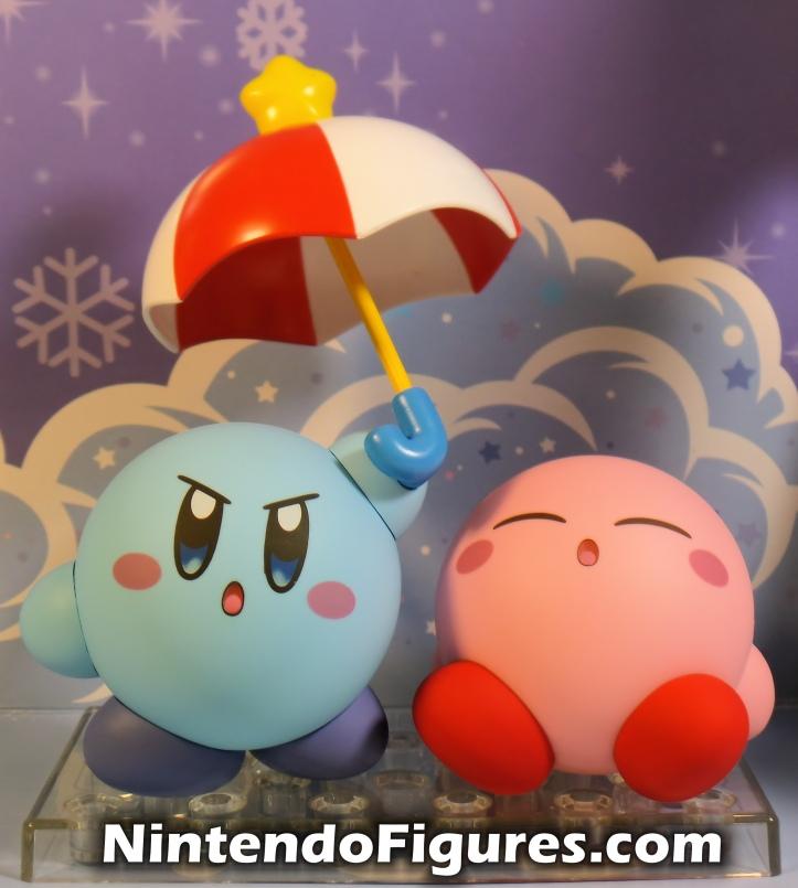 Ice Kirby Nendoroid Nintendo Good Smile Company Umbrella and Sleeping Kirby