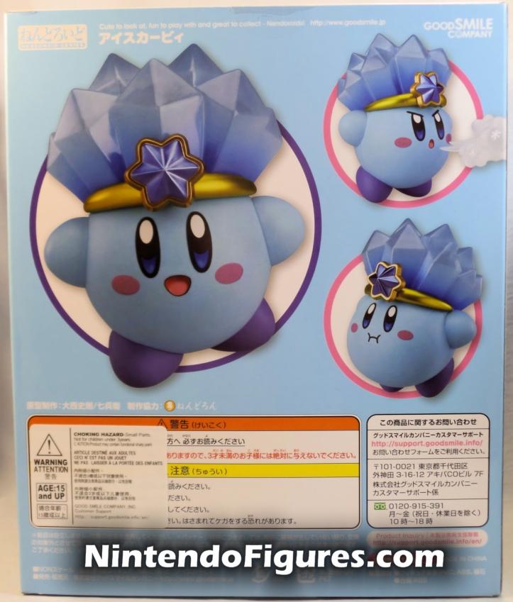 Ice Kirby Nendoroid Nintendo Good Smile Company Box Back