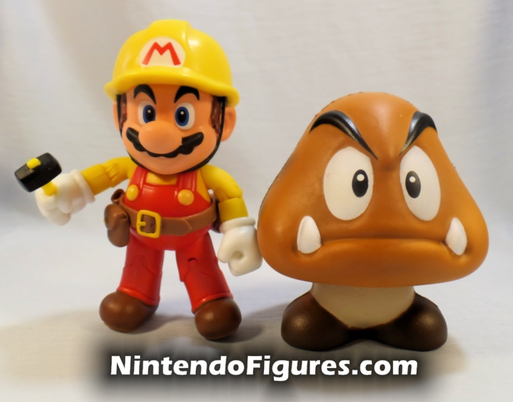 Super Mario Squishies World of Nintendo Jakks Pacific Blind Bag Goomba Mario Maker Comparison