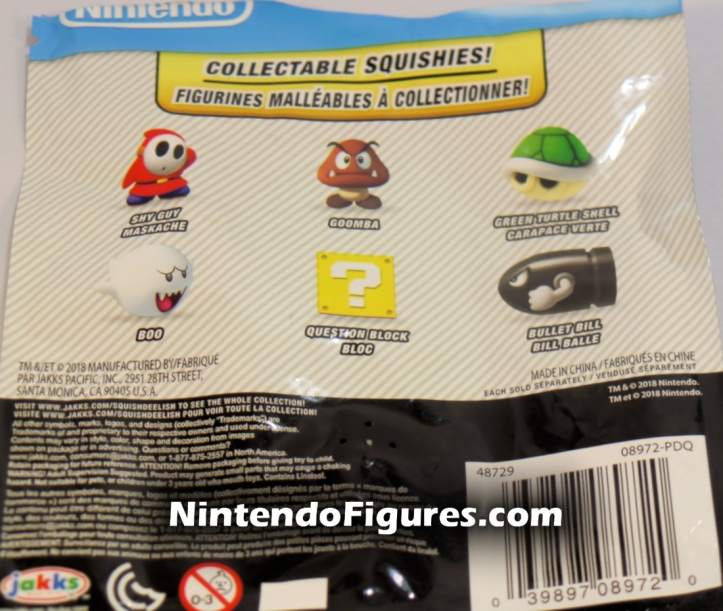 Super Mario Squishies World of Nintendo Jakks Pacific Blind Bag Back