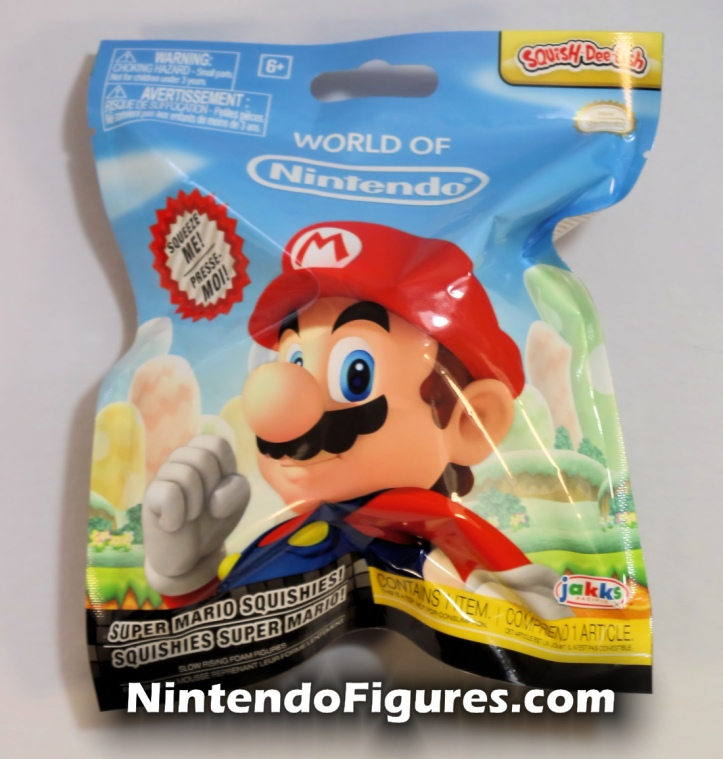 Super Mario Squishies World of Nintendo Jakks Pacific Blind Bag Front