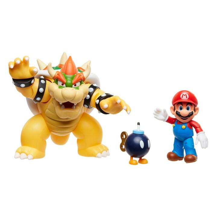 Bowser's Lava Battle Set World of Nintendo Diorama Set 2