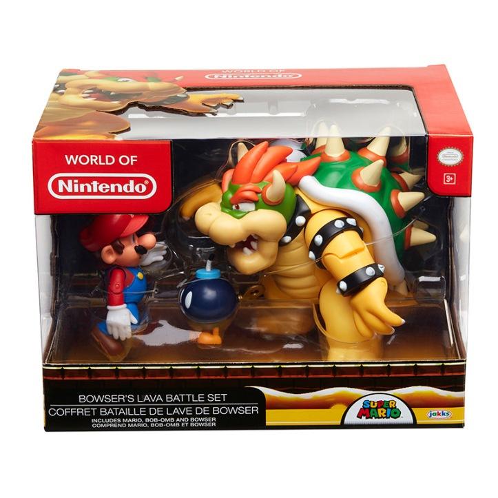 Bowser's Lava Battle Set World of Nintendo Diorama Set