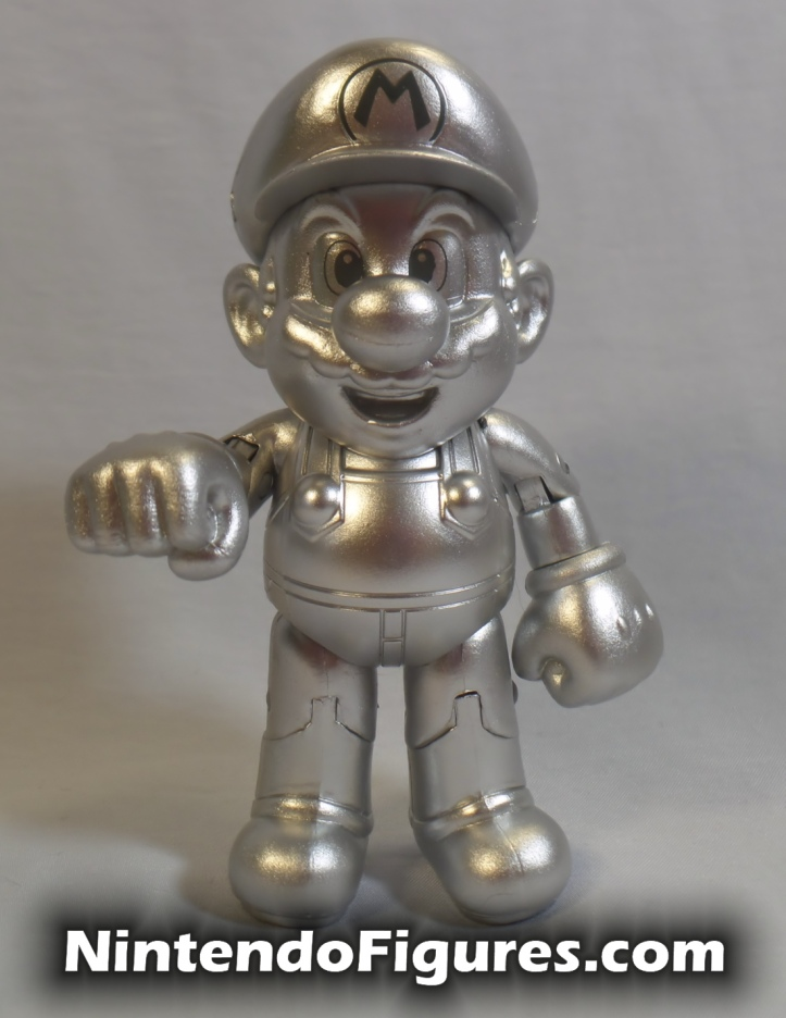 "Metal Mario World of Nintendo 4"" Inch Figure Jakks Pacific Front"