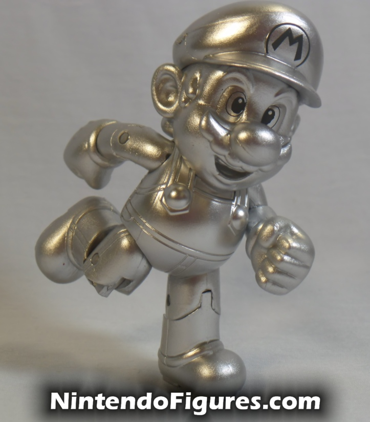 "Metal Mario World of Nintendo 4"" Inch Figure Jakks Pacific Running"