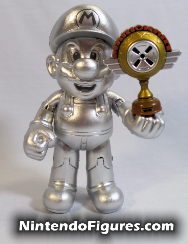 "Metal Mario World of Nintendo 4"" Inch Figure Jakks Pacific With Trophy 2"
