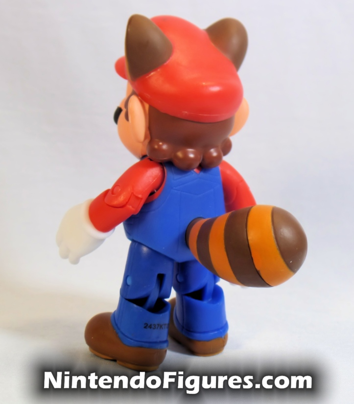 "Raccoon Mario World of Nintendo Box Front 4"" Inch Figure Back"