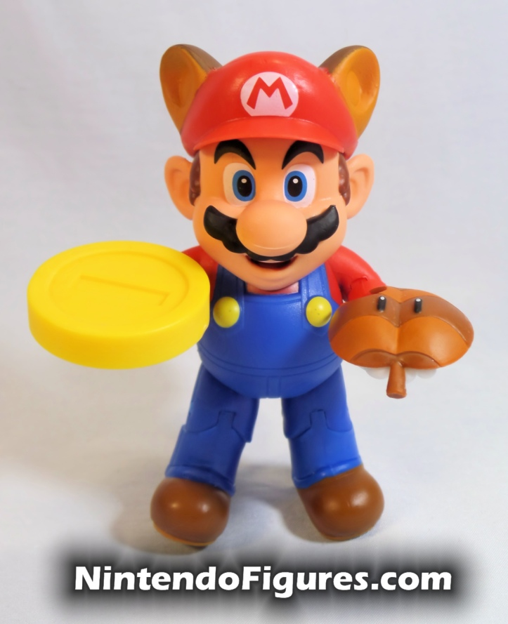 "Raccoon Mario World of Nintendo Box Front 4"" Inch Figure with Accessories"