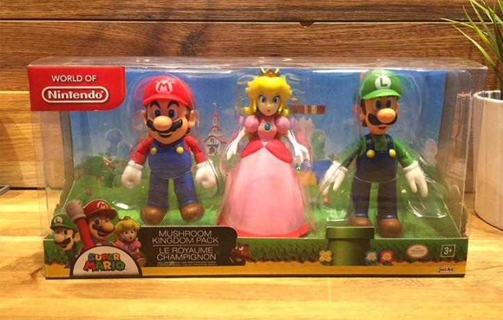 """Mushroom Kingdom World of Nintendo 4"""" Figure Pack"""