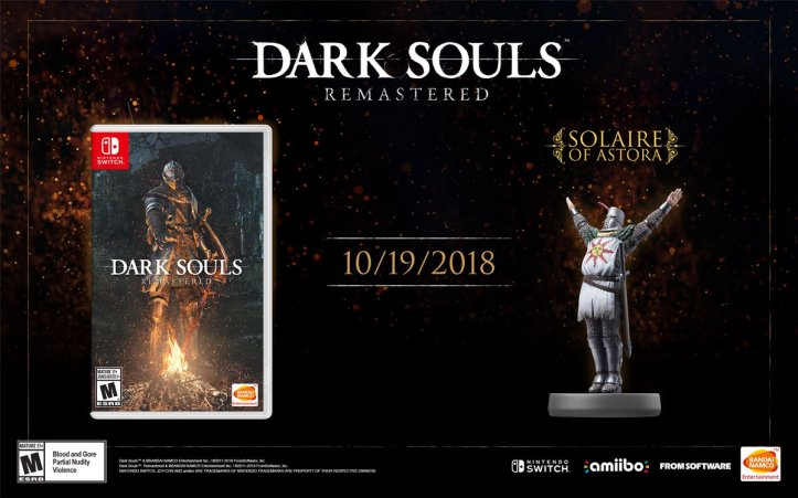 Solaire Amiibo Dark Souls Remastered Nintendo Release Date